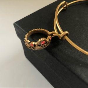 Alex & Ani Queens Crown Charm Bracelet